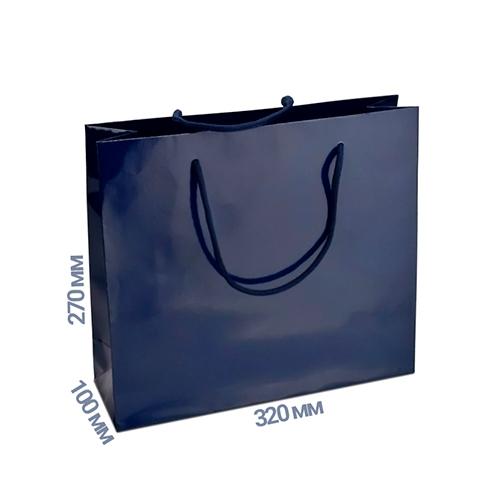 Фото товара Пакет подарочный 270x320x100 (цвет синий) 160 г/м2