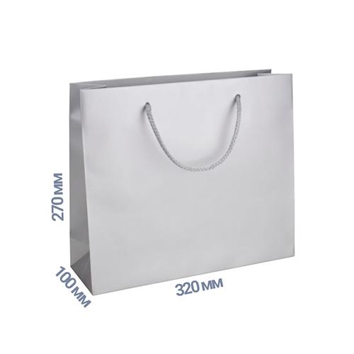 Фото товара Пакет подарочный 270x320x100 (цвет серебро) 160 г/м2