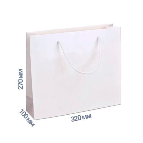 Фото товара Пакет подарочный 270x320x100 (цвет белый) 160 г/м2