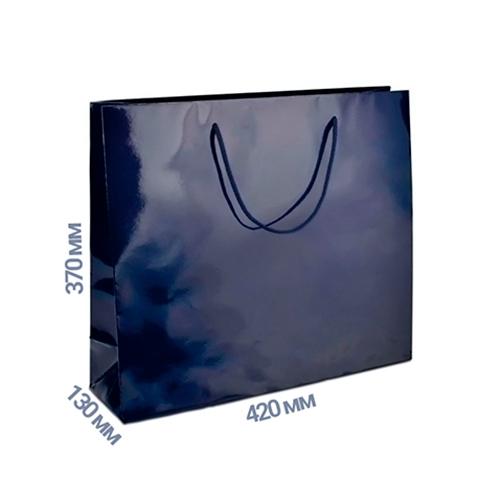 Фото товара Пакет подарочный 370x420x130 (цвет синий) 160 г/м2