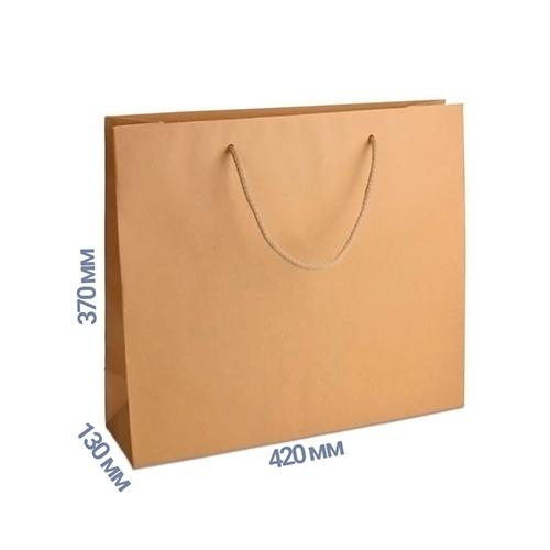 Фото товара Пакет подарочный 370x420x130 (цвет крафт) 170 г/м2