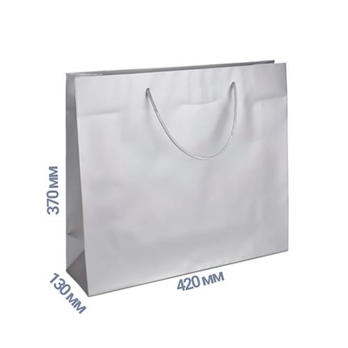 Фото товара Пакет подарочный 370x420x130 (цвет серебро) 160 г/м2