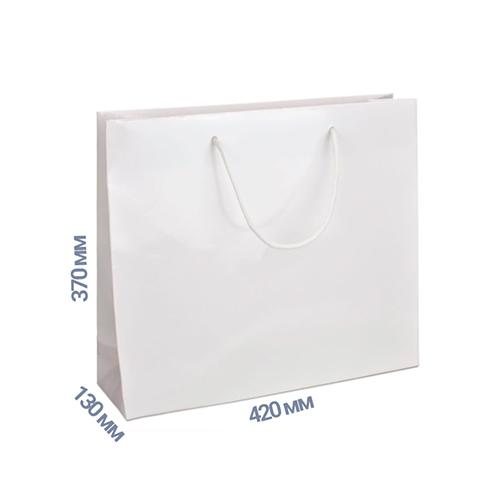 Фото товара Пакет подарочный 370x420x130 (цвет белый) 160 г/м2