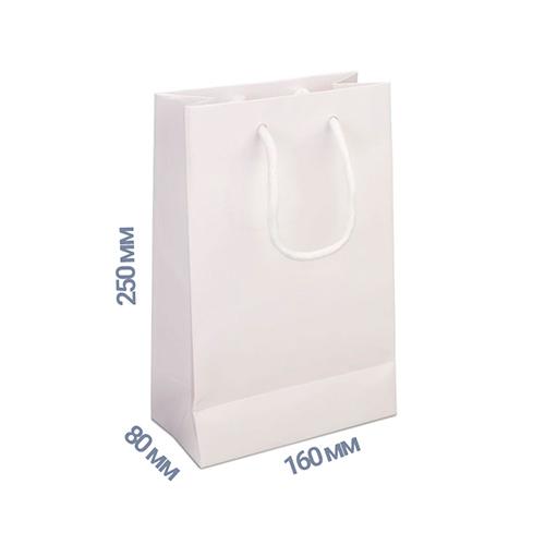 Фото товара Пакет подарочный 250x160x80 (цвет белый) 160 г/м2