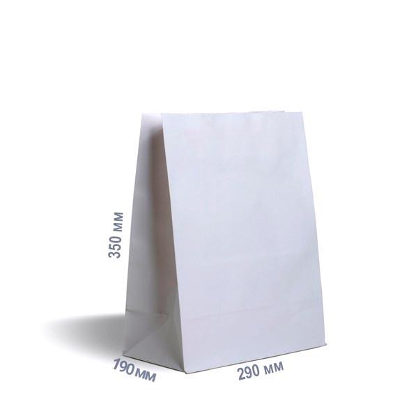 Фото товара Белый крафт пакет 350х290х190 мм