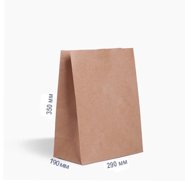 Фото товара Бумажный крафт пакет 350х290х190 мм бурый