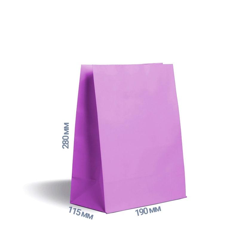 Фото товара Фиолетовый крафт пакет 280х190х115мм