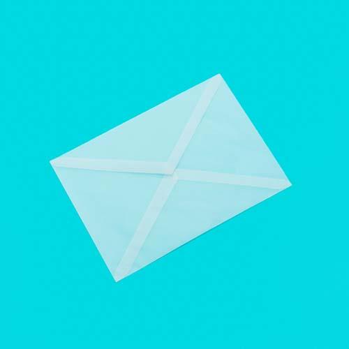 Фото товара Конверт из кальки С6 треугольный клапан