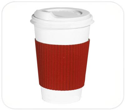 Фото товара Красный капхолдер (термопояс) для стакана