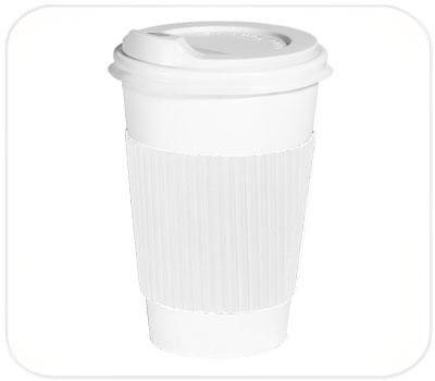 Фото товара Белый капхолдер (термопояс) для стакана