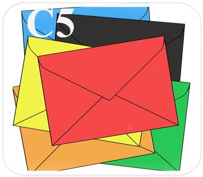 Фото товара Цветной конверт с треугольным клапаном C5 (А5, Mondi Color)
