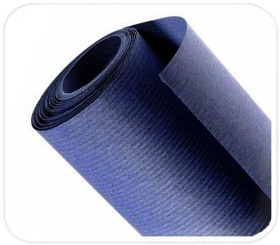 Фото товара Синяя крафт бумага в рулоне (двусторонняя, 70 г/м2)