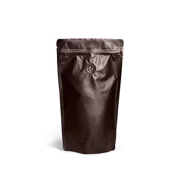 Фото товара Дой пак + металл, zip замок, клапан, коричневый, 240х140х80 (250 г)