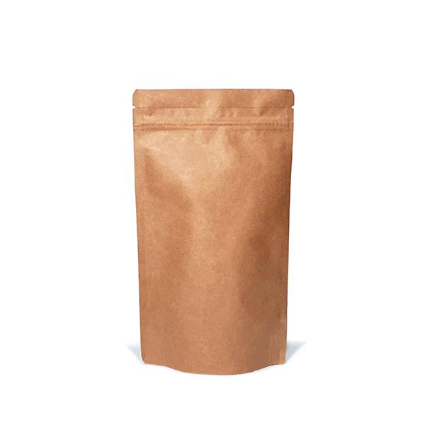 Фото товара Крафт пакет Дой пак + металл, zip замок, 240х140х80 (250 г)