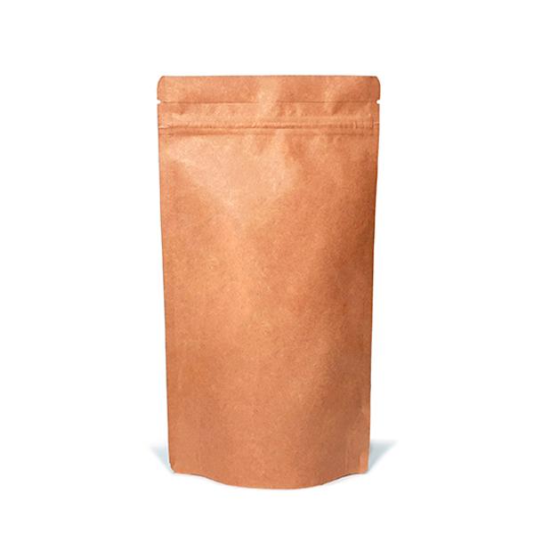 Фото товара Крафт пакет Дой пак + металл, zip замок, 380х210х110 (1 кг)