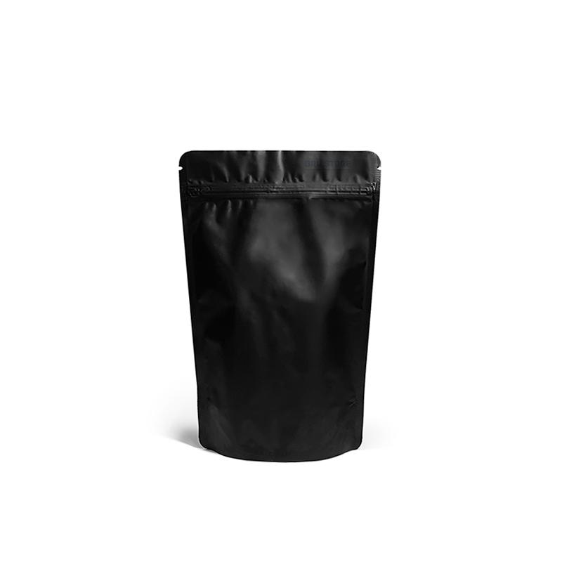 Фото товара Дой пак + металл, zip замок, скруг. углы, черный, 200х130х25 (100 г)