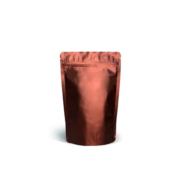 Фото товара Дой пак + металл, zip замок, коричневый, 185х110х70 (50 г)