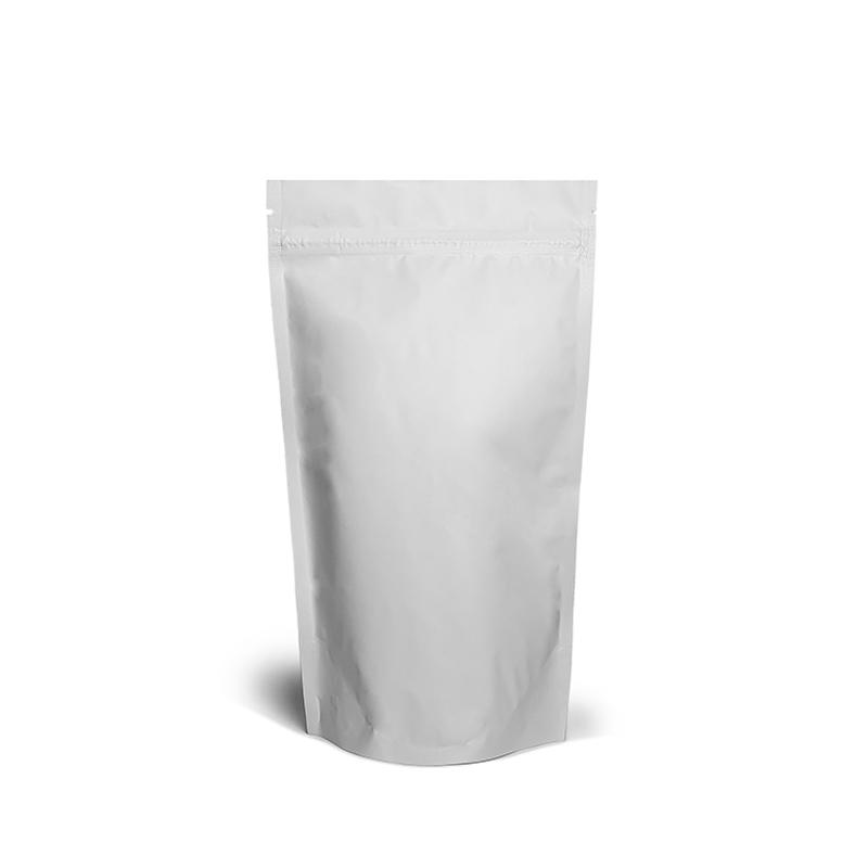Фото товара Дой пак + металл, zip замок, белый, 240х140х80 (250 г)