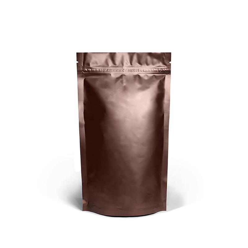 Фото товара Дой пак +металл, zip замок, коричневый, 280х180х90 (500 г)