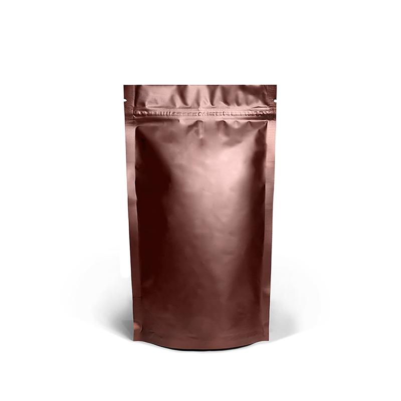 Фото товара Дой пак + металл, zip замок, коричневый, 240х140х80 (250 г)