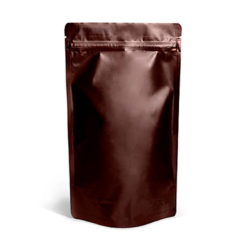 Фото товара Дой пак + металл, zip замок, коричневый, 380х210х110 (1 кг)