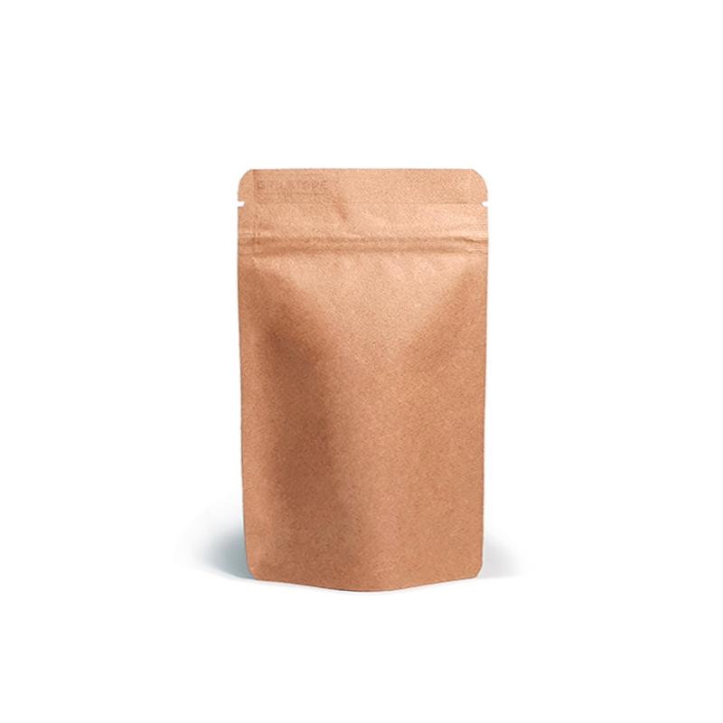 Фото товара Крафт пакет Дой пак + металл, zip замок, 200х130х64 (100 г)