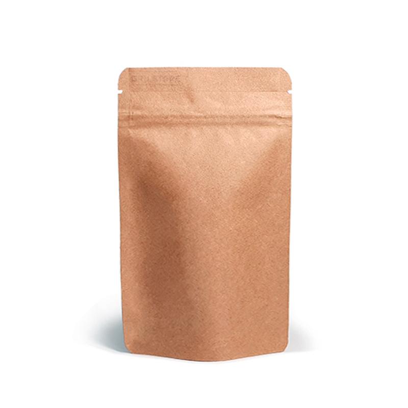 Фото товара Крафт пакет Дой пак + металл, zip замок, 280х180х90 (500 г)