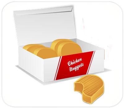 Фото товара Картонная упаковка для еды Фудбокс