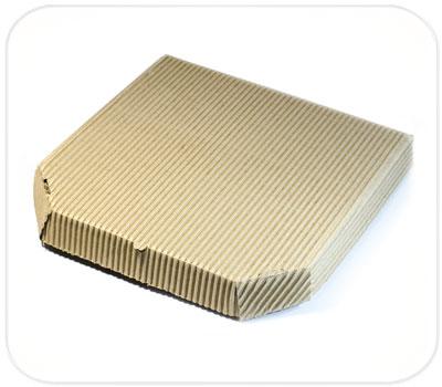 Фото товара Гофрокоробка для пиццы коричневая (ребристая сторона налицо)