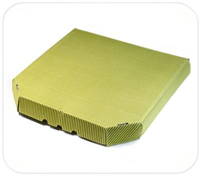 Фото товара Гофрокоробка для пиццы лимонная (ребристая сторона налицо)