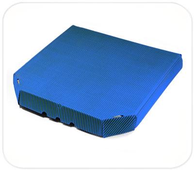 Фото товара Гофрокоробка для пиццы синяя (ребристая сторона налицо)