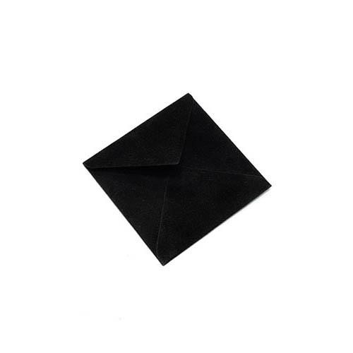 Фото товара Конверт 75х75 бархатный (черный) 150г/м