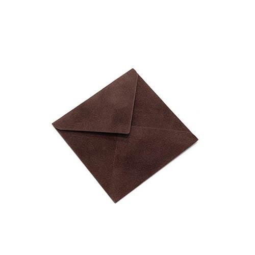 Фото товара Конверт 75х75 бархатный (шоколадный) 150г/м