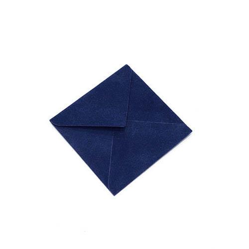 Фото товара Конверт 75х75 бархатный (темно-синий) 150г/м