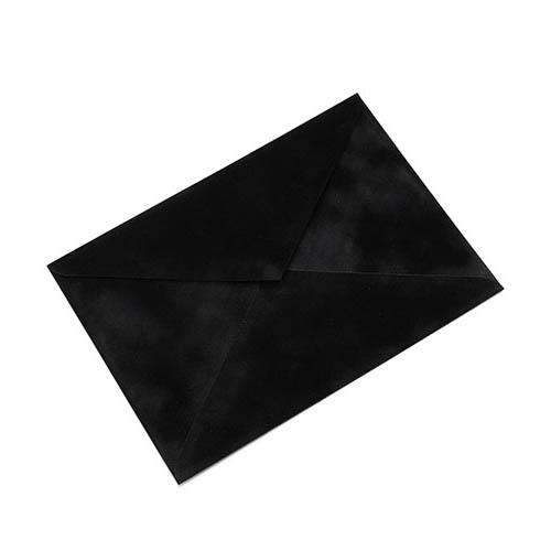 Фото товара Конверт С4 бархатный (черный) 150г/м
