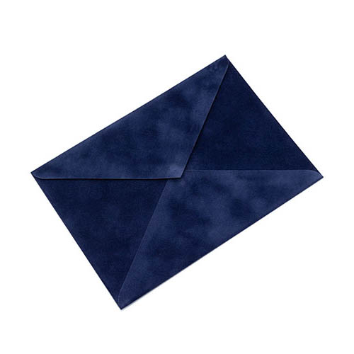 Фото товара Конверт С4 бархатный (темно-синий) 150г/м