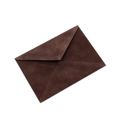 Фото товара Конверт С5 бархатный (шоколадный) 150г/м