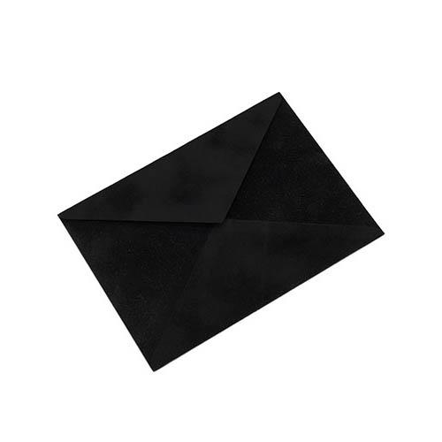 Фото товара Конверт С6 бархатный (черный) 150г/м