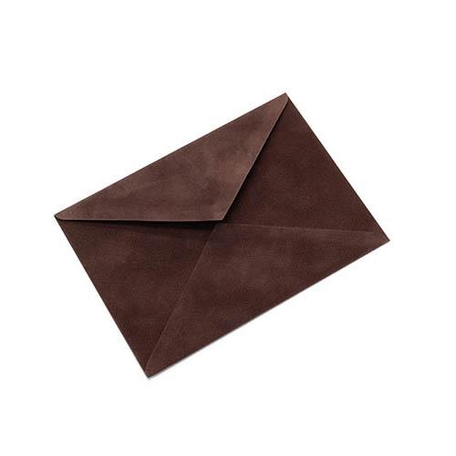 Фото товара Конверт С6 бархатный (шоколадный) 150г/м