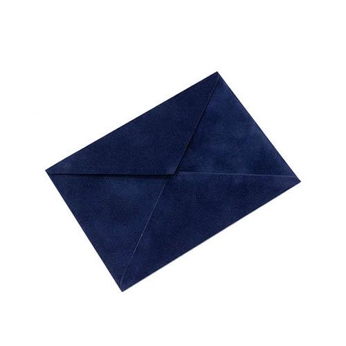 Фото товара Конверт С6 бархатный темно-синий 150г/м треугольный клапан