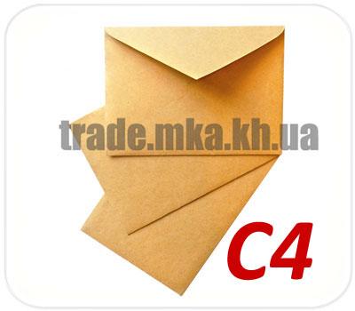 Фото товара Крафт конверт С4 треугольный клапан (70, 90, 125 г/м2)