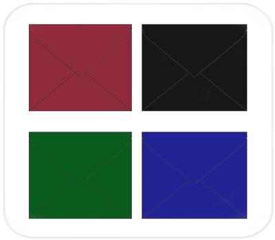 Фото товара Цветные крафт конверты 75х75 мм треугольный клапан