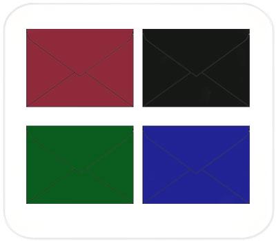 Фото товара Цветные крафт конверты С4 треугольный клапан