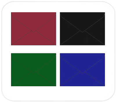 Фото товара Цветные крафт конверты С6 треугольный клапан