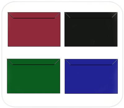Фото товара Цветные крафт конверты К7 прямоугольный клапан