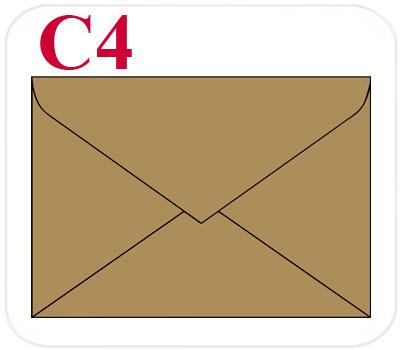 Фото товара Конверт из крафт картона С4 треугольный клапан