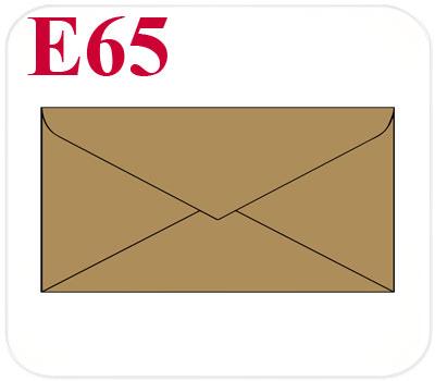 Фото товара Конверт из крафт картона E65 треугольный клапан