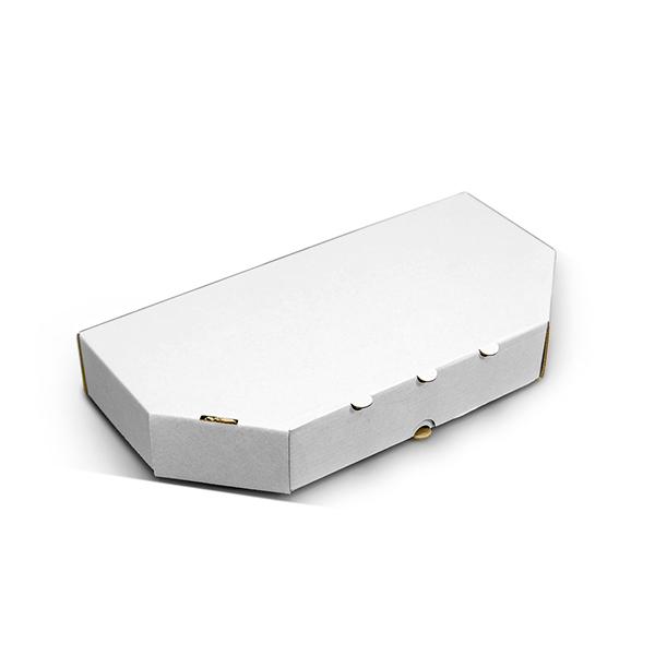 Фото товара Коробка для половины пиццы 300х150х35 мм белая