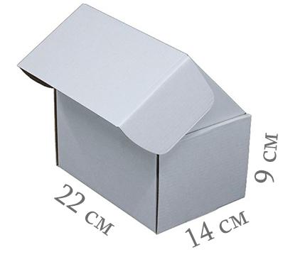 Фото товара Коробка микрогофрокартон 22х14х9 см (белая)