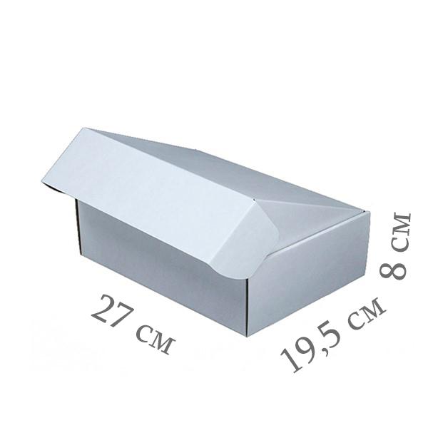 Фото товара Коробка микрогофрокартон 27х19,5х8 см (белая)